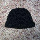 Black Crochet Infant Cap