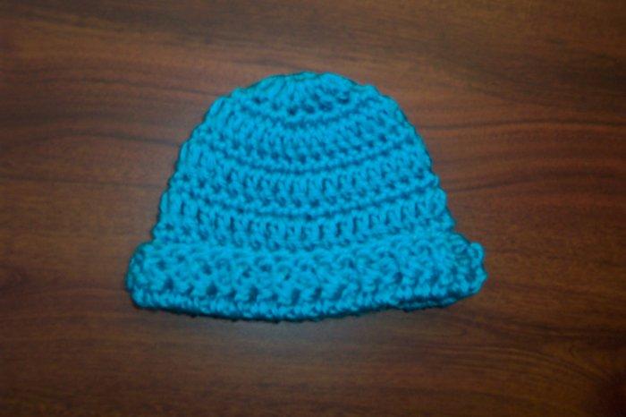 Blue Mint Crochet Infant Cap