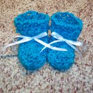 Blue Mint Baby Booties