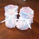 Lavender and Pink Baby Booties