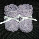 Lavender Baby Booties