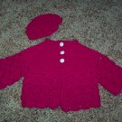 Pink Sweater and Hat Set 3-6 months