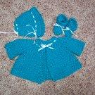 Blue Mint Crochet Layette Set