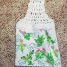 Flowers and Herbs Hanging Kitchen Towel