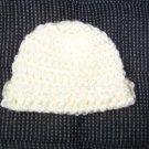 Off White Crochet Infant Cap