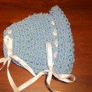 Light Blue Crochet Bonnet
