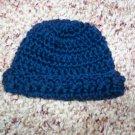 Navy Blue Crochet Infant Cap