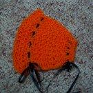 Orange Crochet Bonnet
