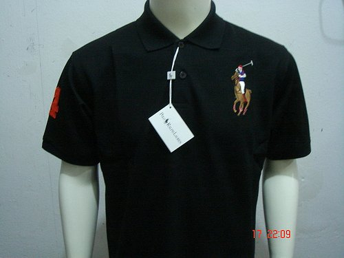 Black Ralph Lauren Polo shirt with big pony-T67