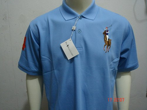 Blue Ralph Lauren Polo shirt with big pony-T67