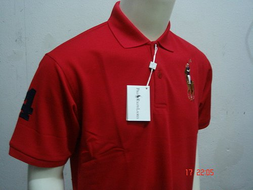 Red Ralph Lauren Polo shirt with big pony-T65