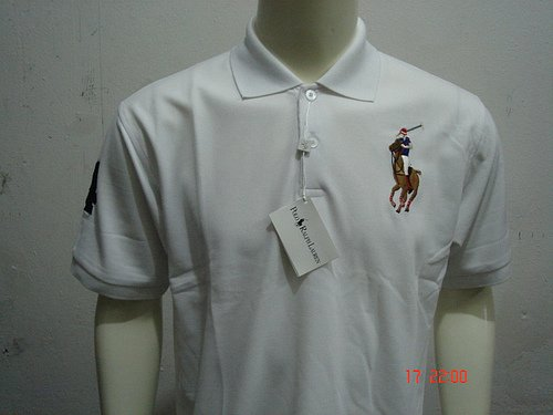 White Ralph Lauren Polo shirt with big pony-T67
