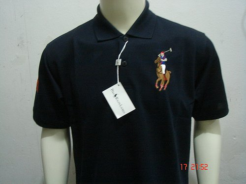 Navy Blue Ralph Lauren Polo shirt with big pony-T61