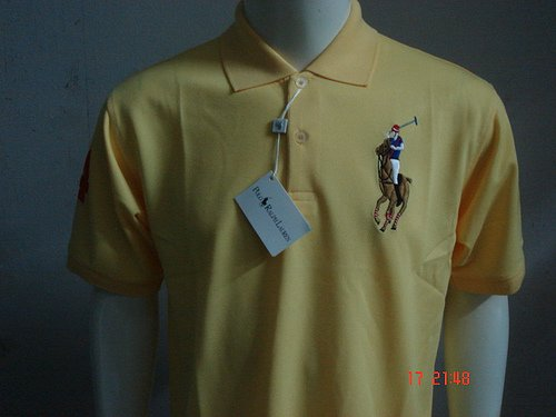 Yellow Ralph Lauren Polo shirt with big pony-T60