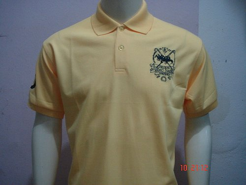 Yellow Ralph Lauren Polo shirt with big pony-T49