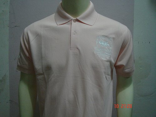 Pink Ralph Lauren Polo shirt with big pony-T44