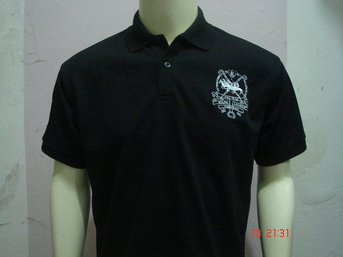 Black Ralph Lauren Polo shirt with big pony-T43