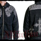 Mens Black Affliction Hoody- H13