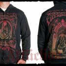 Mens Black Affliction Hoody- H06