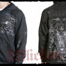 Mens Black Affliction Hoody- H02