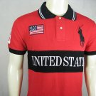Mens Red Ralph Lauren Polo USA shirt with embroided 3