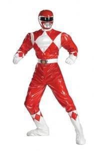 ADULT RED POWER RANGERS DELUXE COSTUME NEW  DG6823