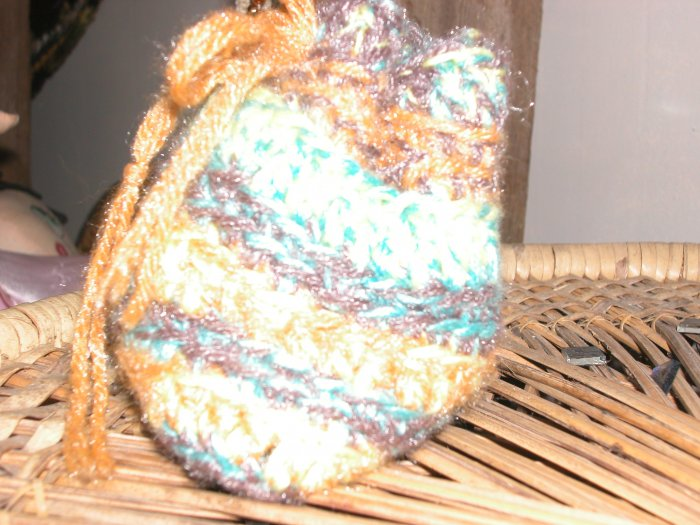 mini glimmer yarn tote