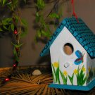 spring themed birdhouse