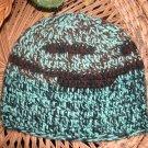 turquoise random striped toboggan