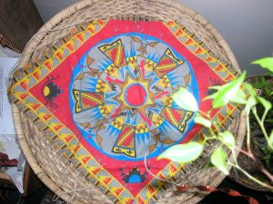 Reversible Indian hemp tie shirt