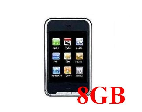 """8GB 2.8"""" LCD Touch Screen MP3 MP4 Player"""