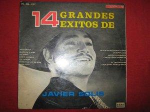 LP Javier Solis 14 exitos different cover Peru edition