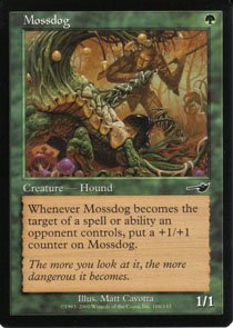 Magic the Gathering Nemesis Mossdog NM/Mint