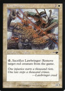 Magic the Gathering Nemesis Lawbringer NM/Mint