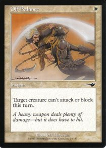 Magic the Gathering Nemesis Off Balance NM/Mint