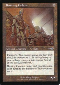 Magic the Gathering Nemesis Rusting Golem NM/Mint