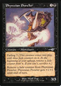 Magic the Gathering Nemesis Phyrexian Prowler NM/Mint