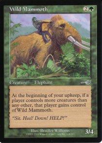 Magic the Gathering Nemesis Wild Mammoth NM/Mint