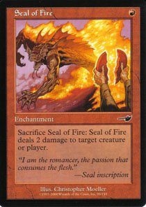 Magic the Gathering Nemesis Seal of Fire NM/Mint
