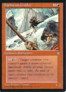 Magic the Gathering Ice Age Title: Barbarian Guides NM/Mint