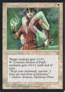 Magic the Gathering Ice Age Armor of Faith NM/Mint