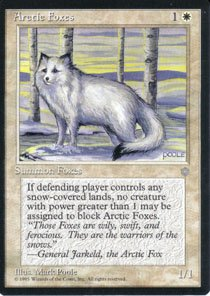 Magic the Gathering Ice Age Arctic Foxes NM/Mint