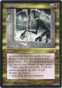 Magic the Gathering Ice Age Diabolic Vision NM/Mint