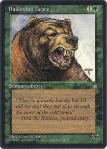 Magic the Gathering Ice Age Balduvian Bears NM/Mint