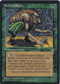 Magic the Gathering Ice Age Brown Ouphe NM/Mint