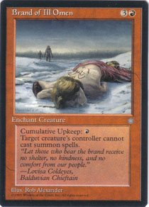 Magic the Gathering Ice Age Brand of Ill Omen NM/Mint