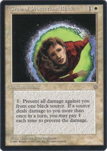 Magic the Gathering Ice Age Circle of Protection: Black NM/Mint