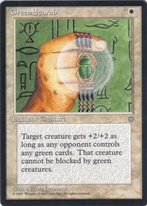 Magic the Gathering Ice Age Green Scarab NM/Mint