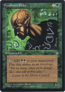 Magic the Gathering Ice Age Fyndhorn Elder NM/Mint
