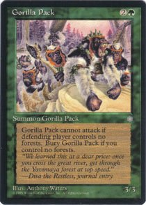 Magic the Gathering Ice Age Gorilla Pack NM/Mint